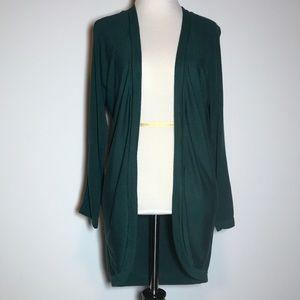 Joan Vass Open-Front Cardigan, Size S, Like New
